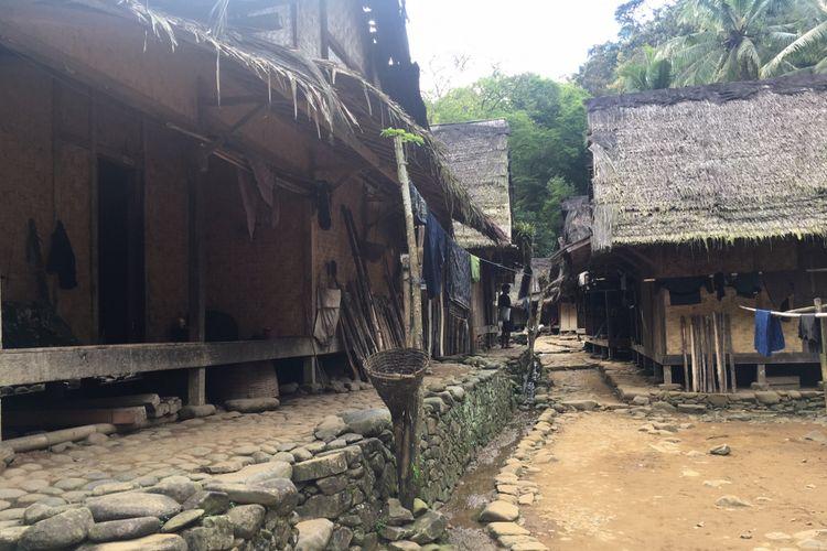 Rumah-rumah yang ada di Baduy Luar, Desa Adat Baduy atau Desa Kanekes, Kecamatan Leuwidamar, Kabupaten Lebak, Banten, Sabtu (17/2/2018).