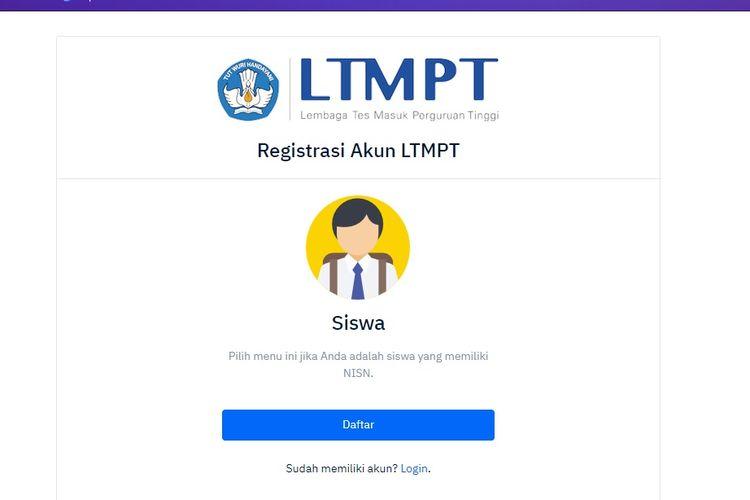 Registrasi Akun LTMPT 2021