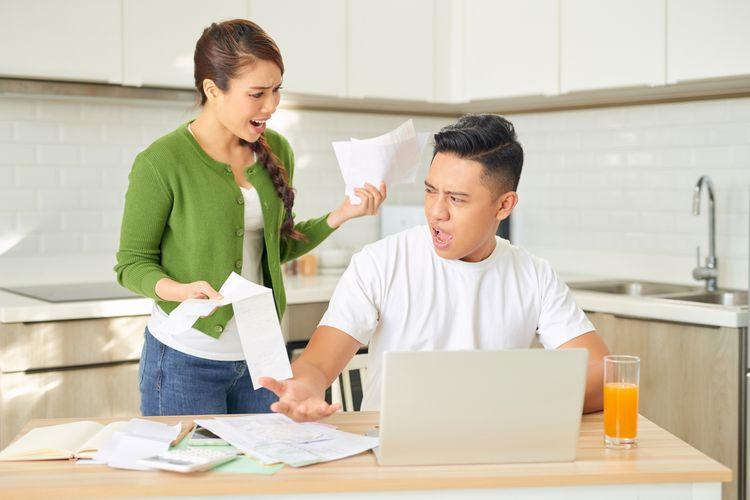 Ilutrasi pekerjaan membuat stres
