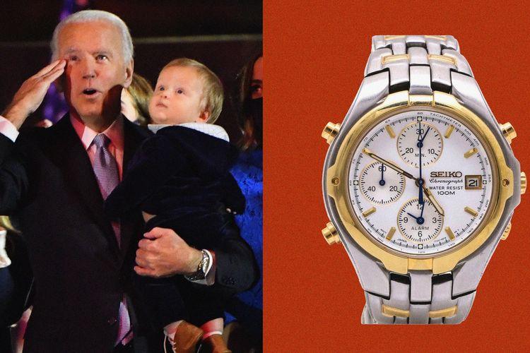 Arloji Seiko pilihan Joe Biden.