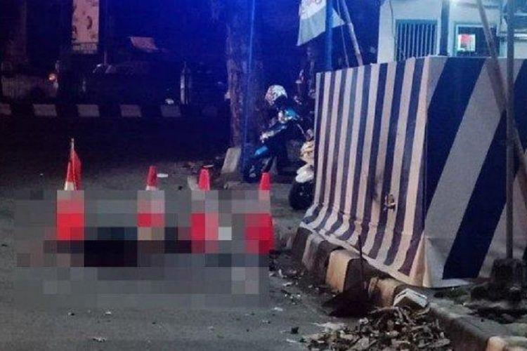 Ledakan diduga bom bunuh diri terjadi di pos polisi Kartasura di Sukoharjo, Jawa Tengah, Senin (3/6/2019).
