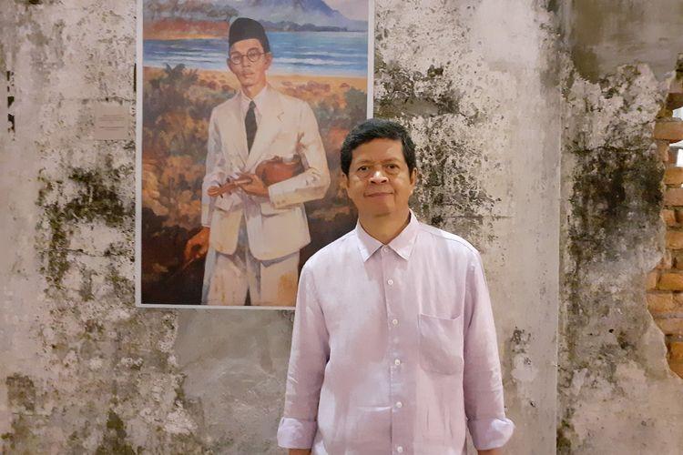 Candra Darusman saat ditemui di ruang kreatif M Bloc Space, Kebayoran Baru, Jakarta Selatan, Senin (9/3/2020).