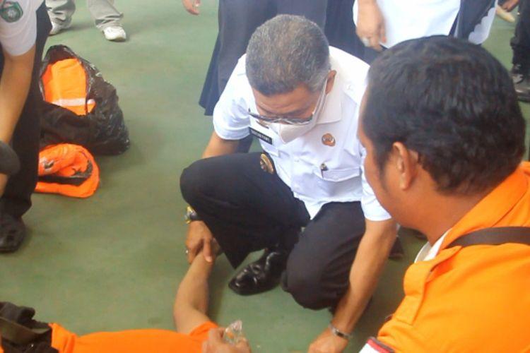 Satu Petugas BPBD Parepare Pingsan Saat Aple Lawan Korona