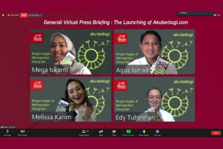 Peluncuran virtual platform Akuberbagi.com dari Generali Indonesia
