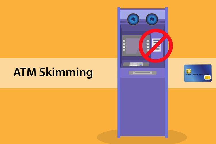 Ilustrasi kerawanan kejahatan skimming di mesin anjungan tunai mandiri (ATM)