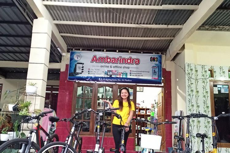 Inilah delapan sepeda yang disewakan milik Reni Sagita Ambar Rahayu (27), warga Kota Madiun