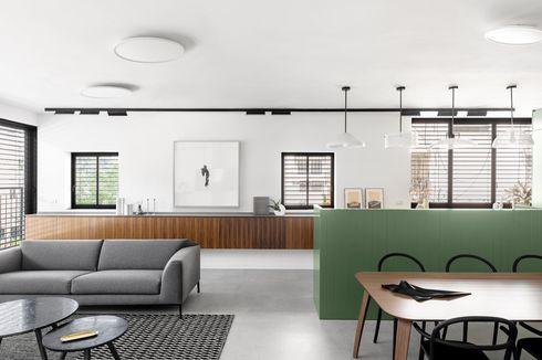 Apartemen Super Cantik Serba Putih Beraksen Hijau