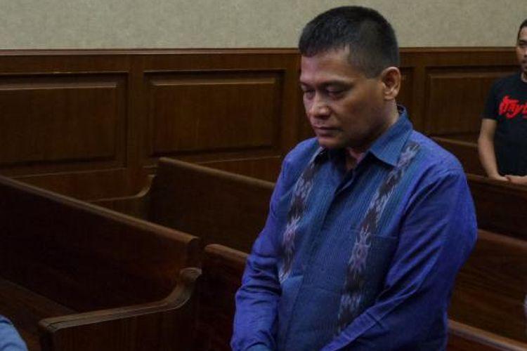Panitera PN Jakarta Utara, Rohadi, saat menghadiri sidang pembacaan tuntutan jaksa di Pengadilan Tipikor Jakarta, Kamis (17/11/2016).