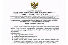 Ombudsman RI Buka Seleksi Anggota Masa Jabatan 2021-2026, Tertarik?