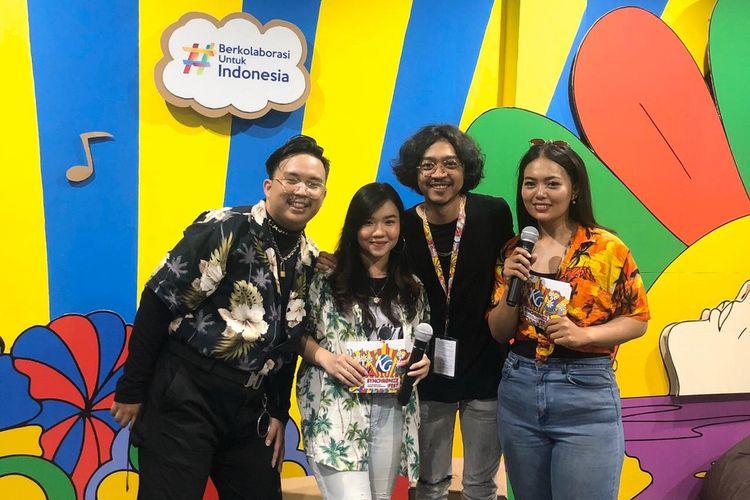Bright Team yang terdiri dari Agnes Tahir, Bella Viona Casvfrilla, dan Hesekiel Riansa berhasil meraih predikat The Best Team pada program KG Influencer batch 1.