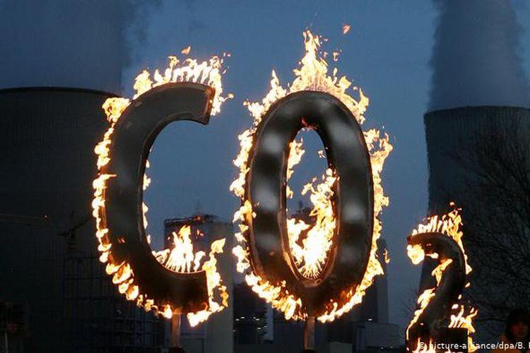 Ilustrasi emisi gas rumah kaca.