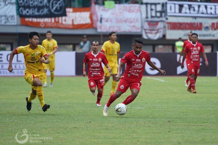 Laga Persija vs Bhayangkara FC di Stadion Patriot, Bekasi, 10 Agustus 2019.