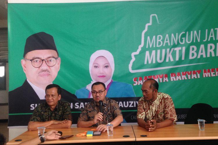 Sudirman Said berbicara sebelum pendafatran ke KPU Jateng, Rabu (10/1/2018)