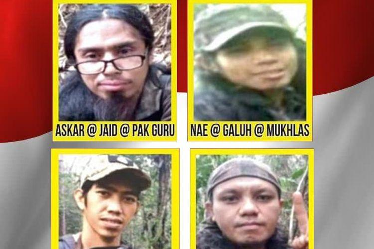 Foto//Daftar Terbaru Empat Orang DPO Teroris Poso