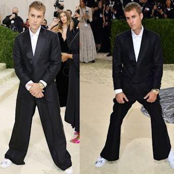 Justin Bieber menghadiri Met Gala 2021 Met Gala di Metropolitan Museum of Art pada 13 September 2021 di New York City.