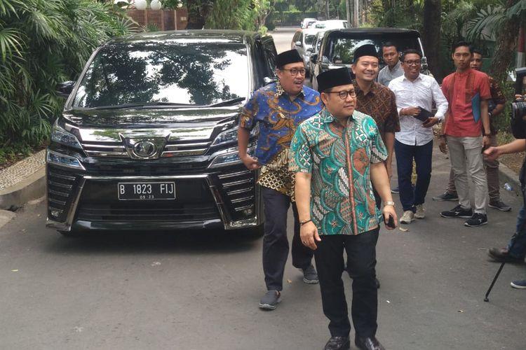 Ketua Umum PKB Muhaimin Iskandar dan para pengurus PKB tiba di kediaman Maruf Amin, Jumat (5/7/2019).