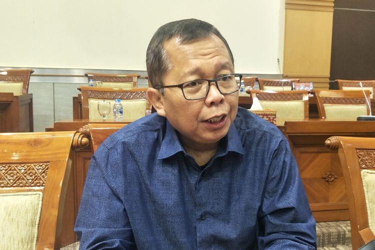 Anggota Komisi III dari Fraksi Partai Persatuan Pembangunan (PPP) Arsul Sani saat ditemui di Kompleks Parlemen, Senayan, Jakarta, Senin (2/9/2019).