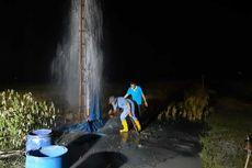 Ketinggian Berkurang, Semburan Air di Grobogan Jadi Jernih dan Asin