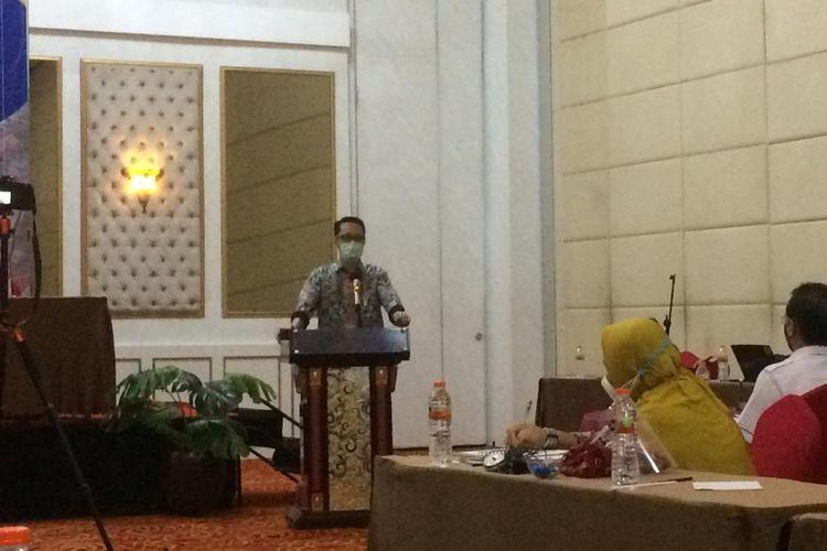 Direktur Rumah Umum dan Komersial M Hidayat dalam acara diskusi Perumahan Berbasis Komunitas, di Bogor, Rabu (16/12/2020).