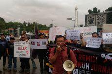 Aksi Penolakan Remisi terhadap Pembunuh Wartawan Digelar di Depan Istana