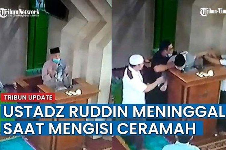 Mubalig Muhammadiyah, HM Ruddin Emang meninggal dunia saat menyampaikan ceramah usai shalat dzuhur di Masjid Baiturrahman, Panaikang, Makassar, Senin (26/4/2021).