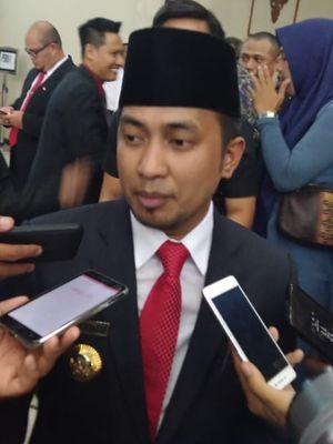 Bupati Penajam Paser Utara (PPU) Abdul Gafur Masud saat diwawancarai awak media di Kantor DPRD Kaltim Jalan Teuku Umar Samarinda Senin (2/9/2019).