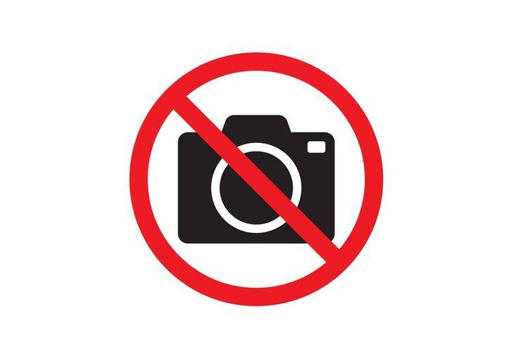 Ilustrasi dilarang memotret