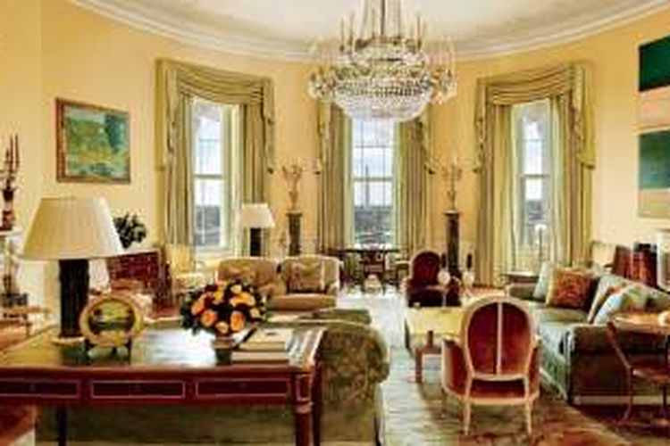 Gedung Putih saat masa pemerintahan Barack Obama.