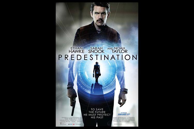 Poster film Predestination (2014). Dibintangi Ethan Hawke.