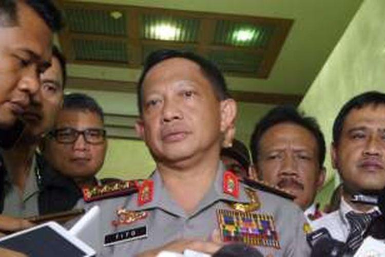 Kapolri Jenderal Pol Tito Karnavian seusai rapat kerja bersama Komisi III DPR, Senin (5/12/2016)