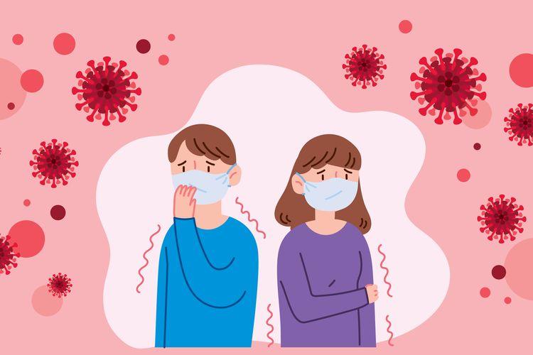 Ilustrasi virus corona dan gejala terinfeksi virus corona