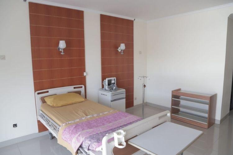 Ruang Isolasi di Asrama Haji Pondok Gede, Jakarta Timur, yang disiapkan untuk WNI dari luar negeri.