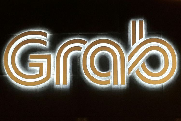 Logo perusahaan teknologi penyedia aplikasi layanan on-demand Grab.