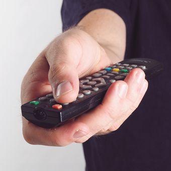 Ilustrasi remote TV.