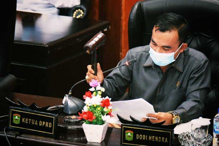 Ketua DPRD Kabupaten Solok Dodi Hendra
