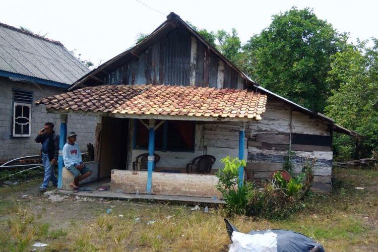 Rumah terduga teroris yang ditangkap di Ogan Ilir.