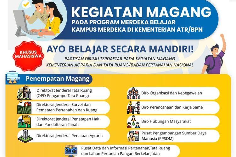 Kementerian ATR?BPN membuka kesempatan magang bagi mahasiswa