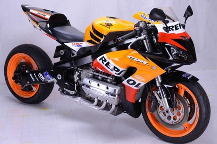 Begini tampang Honda CBR1800R bermesin Gold Wing.