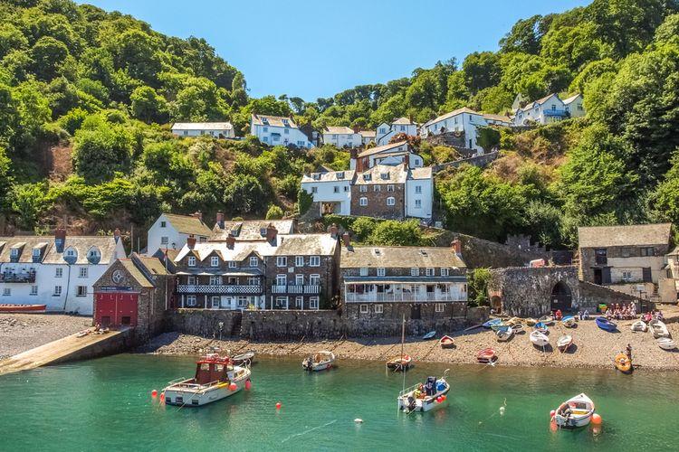 Desa nelayan Clovelly di Devon, Inggris