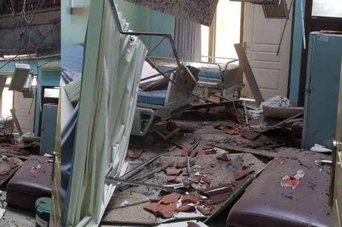 Diguncang Gempa Malang, Atap Bangunan RSUD Mardi Waluyo Blitar Ambrol