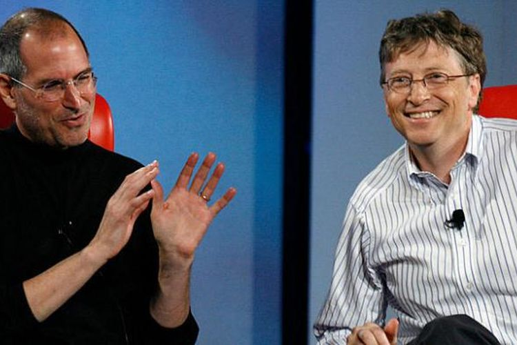 Steve Jobs dan Bill Gates.