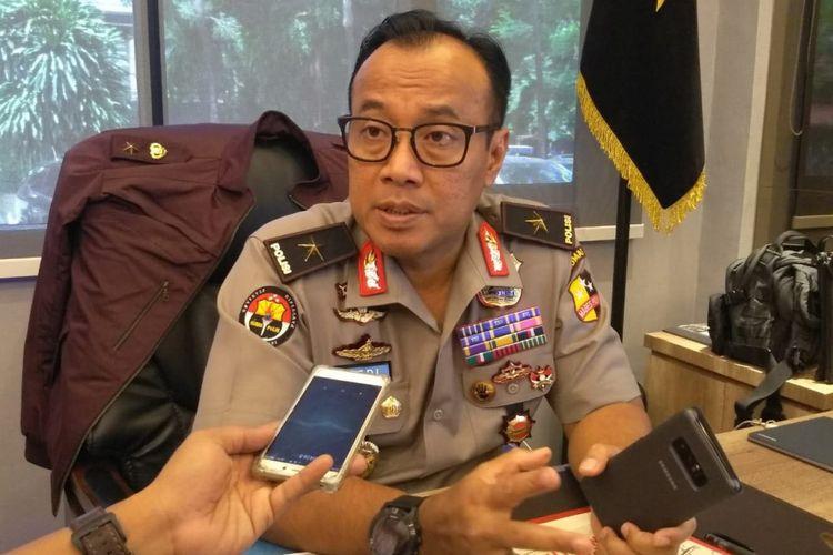 Kepala Biro Penerangan Masyarakat Polri Brigjen Pol Dedi Prasetyo di gedung Humas Mabes Polri, Jakarta Selatan, Senin (19/11/2018).