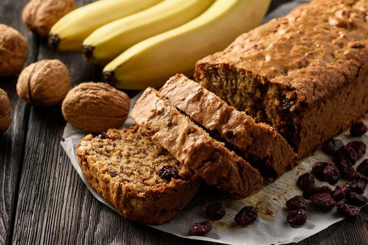 Ilustrasi roti pisang atau banana bread