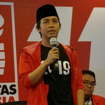 Sekretaris Jenderal Partai Solidaritas Indonesia (PSI) Raja Juli Antoni ketika memberikan keterangan pers di Kantor DPP PSI, Jakarta, Jumat (1/6/2018).