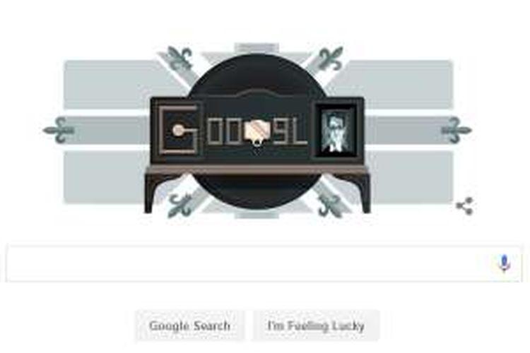 Google doodle peringati demonstrasi TV mekanis pertama 90 tahun yang lalu.
