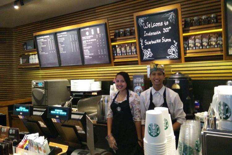 Starbucks di terminbal keberangkatan domestik, Bandara I Gusti Ngurah Rai, Bali