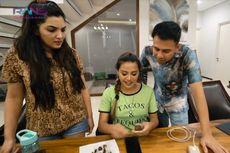Raffi Ahmad Tantang Aurel dan Ashanty Kupas Kulit Salak