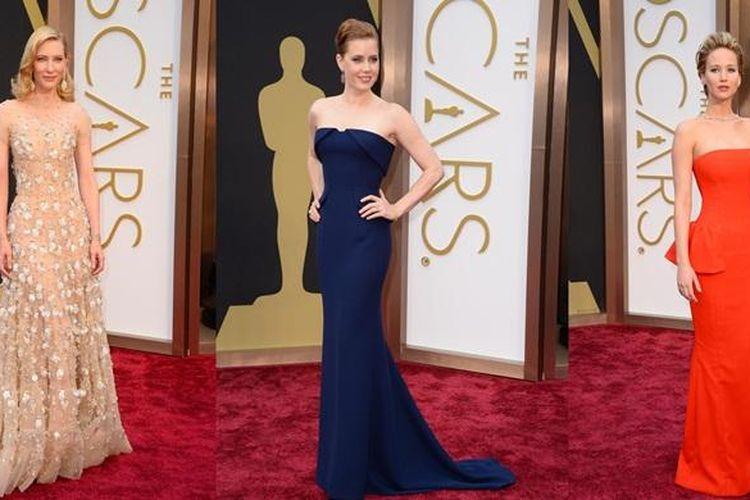 /Penampilan gemerlap para aktris di karpet merah Oscar.