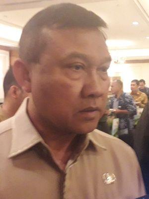Dirjen Politik dan Pemerintahan Umum Kemendagri Soedarmo saat ditemui di Hotel Aryaduta, Jakarta Pusat, Selasa (16/7/2019).