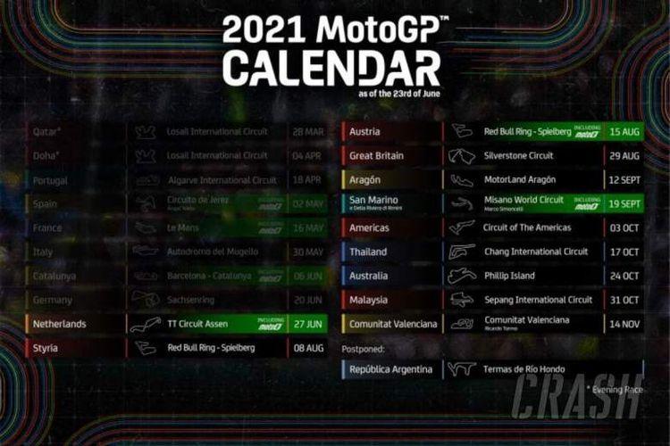 Jadwal terbaru MotoGP 2021